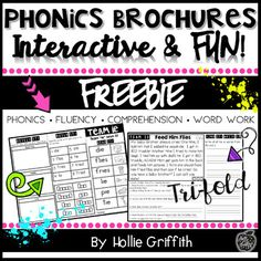 These fluency and comprehension passages are interactive, fun, and perfect for targeting specific skills. While using each brochure, students get the opportunity to learn a new phonics pattern and practice that skill in the context of reading for comprehension. Guided Reading Groups, Reading Fluency, Reading Passages, Reading Centers, Phonics Rules, Phonics Activities, Teaching Vowels, First Grade Phonics, How To Read Faster