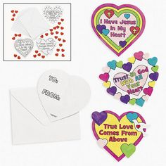 Color Your Own Christian Valentineu0027s Day Cards.
