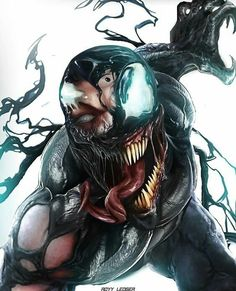 It strikes me as a great book end that both Venom and Spidey display similiar damage patterns Venom Comics, Marvel Venom, Marvel Villains, Marvel Comics Art, Marvel Heroes, Marvel Characters, Spiderman Art, Amazing Spiderman, Marvel Drawings