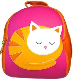 Toddler Personalized Backpack - Dabbawalla Backpack Kitty Cat