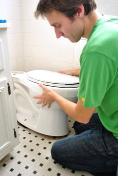 replacing wax rings and tightening a toilet