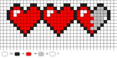 pixel art Let your geek flag fly with a DIY Legend of Zelda Pixel Heart Statement Necklace. Pull out some perler beads and your nintendo and party like its Beading Patterns, Embroidery Patterns, Cross Stitch Patterns, Perler Bead Art, Perler Beads, Zelda Pixel, Legend Of Zelda, Minecraft Pixel Art, Minecraft Crafts