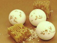 Honey and Oatmeal Bath Bombs