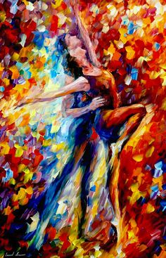 ༻❁༺ ❤️ ༻❁༺ Painting // By Leonid Afremov | 'Towards The Sunlight' | #Lovers #Passion #Love #Couples #Intimacy #OilPainting ༻❁༺ ❤️ ༻❁༺