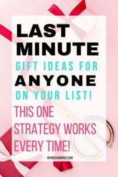 Last minute gift ideas for him, for friends, for her, for mom, for Christmas! Here's a strategy for gift ideas for anyone on your list! Last Minute Birthday Gifts, Birthday Gifts For Best Friend, Birthday Gifts For Women, Last Minute Gifts, Best Friend Gifts, Gifts For Dad, Gifts For Friends, Birthday Presents, Birthday Woman