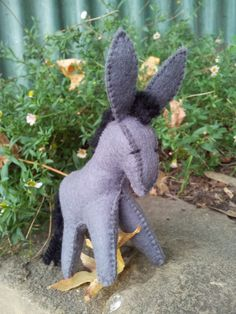 Felt+Donkey+all+natural+and+handmade+completely+by+JaxFancy,+$40.00
