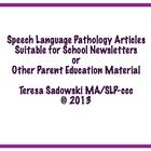 The School Newsletter: Strengthen Language Skills Through Speech Language Pathology, Speech And Language, Teacher Pay Teachers, Homework, School Ideas, Classroom, Class Room, Languages