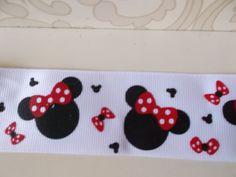 2+yards+15+Minnie+Mouse+grosgrain+ribbon++by+MagicalPrincess2012,+$2.50