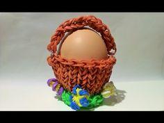 YouTube - Rainbow Loom Oster-Körbchen Rainbow Loom, Wicker Baskets, Crochet Necklace, Videos, Youtube, Decor, Lilac, Blue Green, Easter Activities