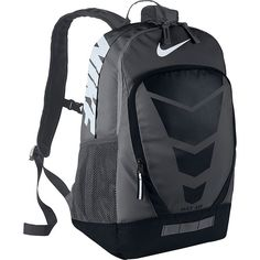 Nike Max Air Vapor Laptop Backpack ($70) ❤ liked on Polyvore featuring bags, backpacks, black, laptop backpacks, polyester backpack, knapsack bags, backpacks bags and shoulder strap bag