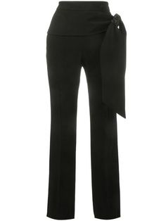 GIVENCHY Tie-Waist Crepe Trousers. #givenchy #cloth #trousers