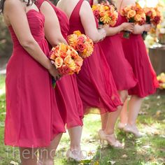 Cranberry Bridesmaid Dresses