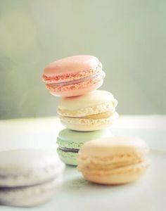 pastels macarons cookies