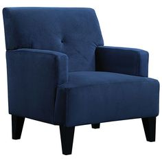 Dawn Contemporary Polyester Accent Chair - Royal Blue   - Online Only