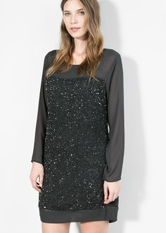 ROBE BRODÉE SEQUINS GRANDE TAILLE