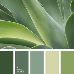 color verde claro, elección del color, paleta de colores monocromática, paleta del color verde monocromática, pantanoso, tonos fríos del verde, tonos verdes, verde claro, verde grisáceo, verde oscuro.