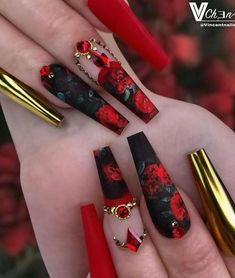 Bling Acrylic Nails, Best Acrylic Nails, Stiletto Nails, Coffin Nails, Crazy Nails, Fancy Nails, Cow Nails, Cute Acrylic Nail Designs, Exotic Nail Designs
