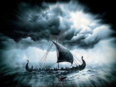 Drakkar on a rough sea by thecasperart on DeviantArt – Norse Mythology-Vikings-Tattoo Viking Life, Viking Art, Viking Warrior, Viking Drawings, Viking Books, Norwegian Vikings, Viking Culture, Nordic Tattoo, Viking Tattoo Design