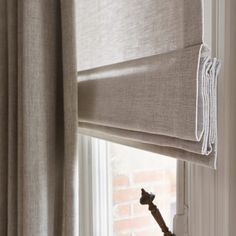 Soft light-filter roman blind with drapes over the top for room darkening effect. Interior Design Curtains, Interior Desing, Interior Inspiration, Modern Curtains, Curtains With Blinds, Window Curtains, Style At Home, My Living Room, Home And Living