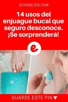 Enjuague bucal usos | 14 usos del enjuague bucal que seguro desconoce. ¡Se sorprenderá! | ¿Sabe que las propiedades antisépticas del enjuague bucal pueden ser utilizadas para muchas más cosas? Le mostramos varias que seguro le sorprenderán. ¡No deje de probarlas!
