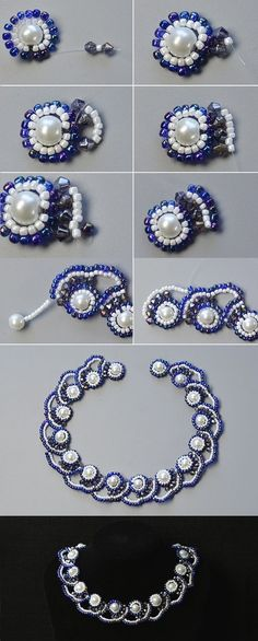 Like the pearl beaded necklace?The tutorial will be published by LC.Pandahall.com   Necklace 2   Pinterest by Jersica