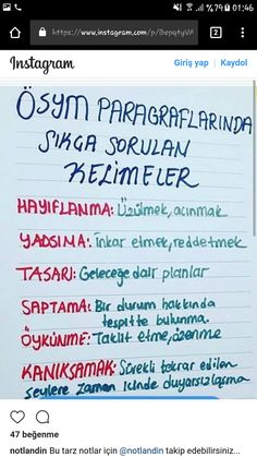 Study Methods, Study Tips, Good Study Habits, High School Hacks, Turkish Language, Study Hard, School Notes, 2 Instagram, Studyblr