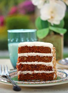 Sugar-Free, Gluten-Free Carrot Cake! Made from coconut flour, it's so rich and moist.