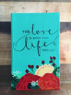 Hand Painted Custom Bible Blooms and Buds Theme by HosannaRevival. Hand Painted Scripture makes a great Christian gift.