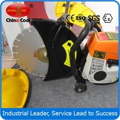chinacoal03 350mm gasoline cut-off saw/machine  (Road Cutting Machine)  Specifications professional manufacture  71cc gasoline cut off machine  cut metal stone and steel.others Engine: 2-stroke air-cooled Displacement:71cc                               Fuel Tank Capacity:0.7L Blade Dia.:305/355mm