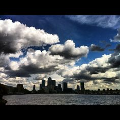 Wonderful sky over Canary Wharf - @purplemonkee- #webstagram