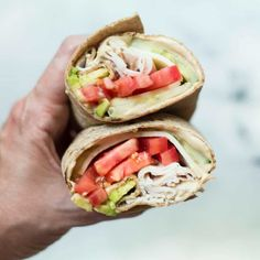 This quick, healthy, and delicious Avocado,Turkey Hummus Wrap makes a the perfect lunch. You can easily make this easy hummus wrap using just a few simple ingredients! Healthy Soup, Healthy Chicken, Healthy Foods To Eat, Healthy Dinner Recipes, Healthy Snacks, Healthy Eating, Healthy Wraps, Healthy Dinners, Mini Pizzas