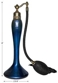 Durand Art Glass DeVilbiss Style Blue Aurene Deco Atomizer Perfume Bottle | eBay Blue Perfume, Perfume Atomizer, Antique Perfume Bottles, Long Lasting Perfume, Glass Art, Antiques, Beautiful Perfume, Beauty Box, Window Shopping