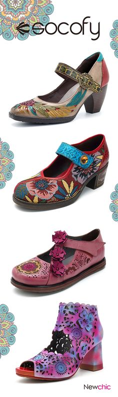 UP TO 55% OFF! SOCOFY Plus Size High Quality Handmade Vintage Shoes and Heel. SHOP NOW!