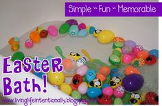 Easter Bath - This is such a simple kids activity for Easter that kids are going to LOVE! Easter Bath - This is such a simple kids activity for Easter that kids are going to LOVE! Easter Activities For Kids, Spring Activities, Craft Activities, Educational Activities, Hoppy Easter, Easter Bunny, Easter Eggs, Easter Table, Diy For Kids
