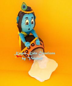 Paper Handmade Quilled Krishna Miniature by KagazKalaCreations Quilling Dolls, Quilling Craft, Quilling Ideas, Paper Quilling Cards, Origami And Quilling, Janmashtami Decoration, Bullet Journal Lettering Ideas, Water Art, Clay Art
