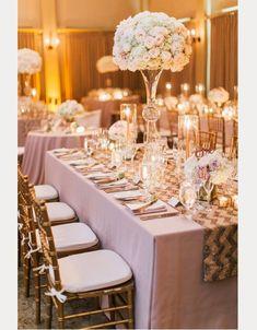 26 Of Our Favorite Chevron Wedding Ideas ~  we ❤ this! moncheribridals.com #goldchevronweddingtablescape
