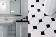 Medium, French Bathroom, Subway Tiles, House Dress, Interior Styling, Beautiful Bathrooms, Tile Floor, Sink, Victorian