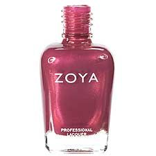 Zoya Nail Polish in Drew - pink rose toned mauve with subtle gold and pink metallic shimmer.