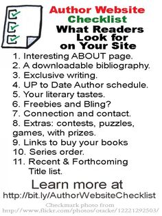 Checklist for author websites: what to include, what to avoid.