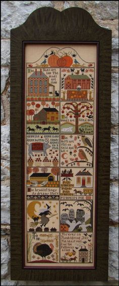 Autumn At Hawk Run Hollow - Cross Stitch Pattern, by Carriage House Samplings. $32.39