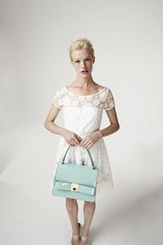 Orla Kiely Spring/Summer 2013 Cloud Organza and Patent Mabel in Peppermint (Vogue.com UK)