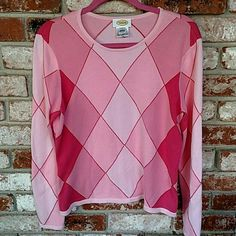 Gently worn Talbot's pastel sweater Light Argyle sweater Talbot's  Sweaters
