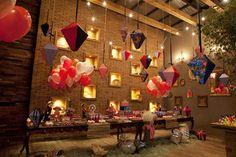 Festa decorada superfofa para tema festa junina