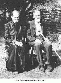 """Valentine Hatfield - Isabelle & Valentine Hatfield, brother to """"Devil Anse"""" Hatfield."""