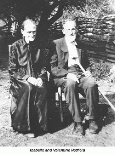 "Valentine Hatfield - Isabelle & Valentine Hatfield, brother to ""Devil Anse"" Hatfield."