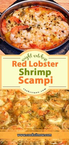 Famous Red Lobster Shrimp Scampi Weight Watchers Smart Points Friendly - General Cooks it Now - Shrimp Recipes Ww Recipes, Shrimp Recipes, Fish Recipes, Cooking Recipes, Healthy Recipes, Shrimp Dishes, Quiche Recipes, Fish Dishes, Copycat Recipes