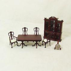 """S 3490 1/2"""" scale -Mahogany Dining room set -6pcs"""