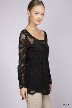 Blue Bohemian - Black Embroidered Sheer Top, $58.00 (http://www.blue-bohemian.com/black-embroidered-sheer-top/)