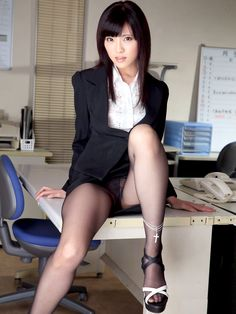 Sexy female. Hot body. Sexy Japanese girl. Sexy office girl.