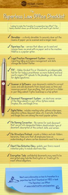 The Paperless Law Office Checklist
